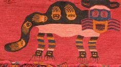 Border with pampas cats, Paracas textile, Peru