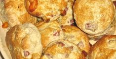 Bacon and cheese scones in the Thermomix - Pea And Mint Soup, Cheese Scones, Oreo, Bacon, Muffin, Breakfast, Recipes, Food, Cheese Buns