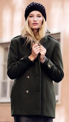 Spikes and oversize coat from HM