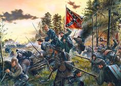 Battle of Gaines Mill today: Hood's brigade giving the enemy a taste of Texas Fury