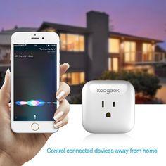 Koogeek Home Smart Plug Wi-Fi Enabled with Apple HomeKit |lovdock.com