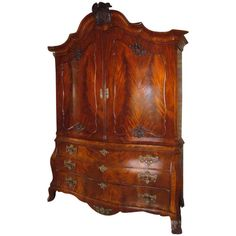 A Stunning Mahogany Cabinet-on-Chest, Dutch, circa 1770 | From a unique collection of antique and modern cabinets at http://www.1stdibs.com/furniture/storage-case-pieces/cabinets/