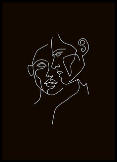 Faces Black Poster in the group Posters / Illustrations at Desenio AB . - Faces Black Poster in the group Posters / Illustrations at Desenio AB … # wallpape - Wall Drawing, Line Drawing, Drawing Ideas, Black Poster, Art Sketches, Art Drawings, Abstract Drawings, Art Minimaliste, Minimal Art