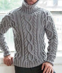 Winter Cardigan Outfit, Cardigan Outfits, Men Sweater, Turtle Neck, Wool, Knitting, Sweaters, Fashion, Crochet Doilies