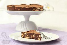 torta ganache com biscoito