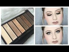 Simple Brown Smokey Eye Makeup Tutorial - NEW CoverGirl Nudes TruNaked Palette Review + Swatches! - YouTube