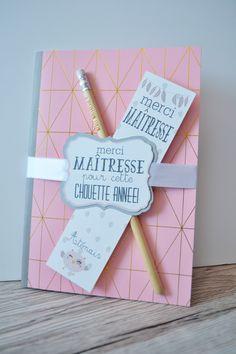 """KIT CADEAU MAITRESSE FIN D'ANNEE """"MAITRESSE CHOUETTE"""" : Matériel pour écriture par carnetmauve"""