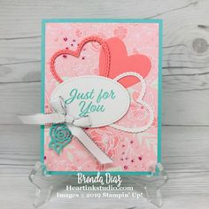 Valentine Greeting Cards, Heart Cards, Love Valentines, Cupid, Your Cards, Cardmaking, Stampin Up, Just For You, Paper Crafts