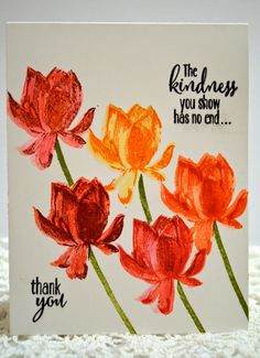 Stampin' Up! Lotus Blossom handmade  CAS thank you card