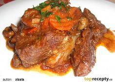 Daub de boeuf (dušené hovězí maso s červeným vínem, česnekem a tymiánem) recept - TopRecepty.cz