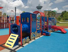 Train playstructure by Landscape Structures