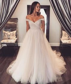 Off Shoulder Sleeves Blush Wedding Dress.The professional tailors from wedding dress manufacturer custom this ball gown wedding dress with any sizes and many other colors.Contact us to custom wedding dress online Crystal Wedding Dresses, Cheap Wedding Dress, Dream Wedding Dresses, Bridal Dresses, Wedding Gowns, Prom Dresses, Graduation Dresses, Dress Prom, Dresses Uk