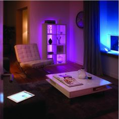 Add multicoloured mood lighting anywhere in your home with Philips Hue LED strips - Smart Home Smarthome - Available at Maplin