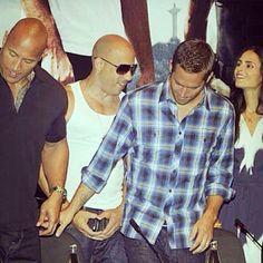 Dwayne, Vin, Paul and Jordana.