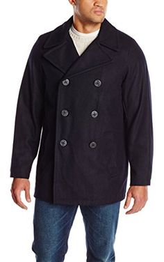 Tommy Hilfiger Men's Big-Tall Classic Peacoat, Navy, 3X-Large/Tall ❤ Tommy Hilfiger Men's Outerwear