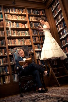 If we were getting married somewhere with a library, I would totally recreate.