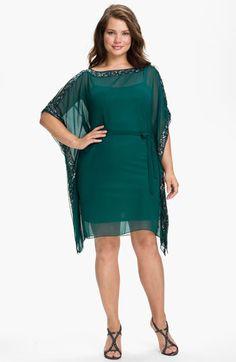 Aidan Mattox Beaded Kimono Sleeve Chiffon Dress (Plus)  $129.97 55% off