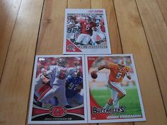 JOSH FREEMAN (3) Card Lot 2010 Topps 2012 Topps 2011 Score Tampa Bay Buccaneers