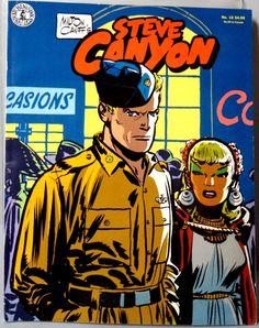 Milton CANIFF STEVE CANYON #12 & Scorchy Smith Cold War Era Jet Aviation Action Adventure Newspaper Comic Strip Reprints Kitchen Sink