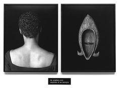 Lorna Simpson, Flipside, Two gelatin silver prints and engraved plastic plaque, diptych, 51 x 70 inches x cm) overall American Art, African American Artist, Art Photography, Narrative Photography, Artist Models, Diptych, Simpson, Feminist Art, Female Artists