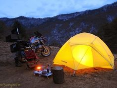 5 reasons to go motorcycle camping