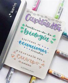 Bullet Journal Lettering Ideas, Bullet Journal Banner, Journal Fonts, Bullet Journal Notes, Bullet Journal Aesthetic, Bullet Journal Writing, Bullet Journal School, Bullet Journal Ideas Pages, Lettering Tutorial
