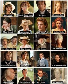 Pride and Prejudice Characters, 2005