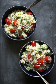 Easy Workweek Lunches Worth Getting Excited About - Greek Pasta Salad by Joy the Baker #theeverygirl
