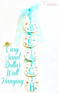 Easy Sand Dollar Wall Hanging Easy Sand Dollar Walling Hanging for the Beach Lover at Little Miss Celebration Beach Christmas, Coastal Christmas, Christmas Crafts, Merry Christmas, Xmas, Sea Crafts, Diy And Crafts, Arts And Crafts, Rock Crafts
