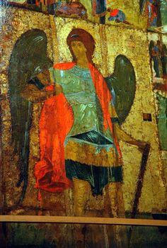 Icona del XV secolo dell'Arcangelo Michele all'interno della cattedrale dell'Arcangelo Michele nel Cremlino di Mosca