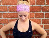 Workout headband- crossfit headband- fitness headband- yoga headband••• Red Boho