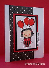 Love the use of black and red on this card.  Cards by Cookie.