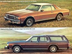 Caprice Coupe and Wagon