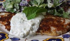 CRISPY TILAPIA WITH A FENNEL TZATZIKI SAUCE: A delish fish rendition that has tons of flavor. Not difficult, either.