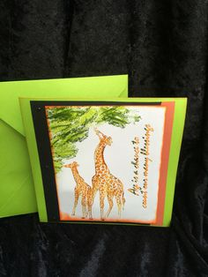 A personal favorite from my Etsy shop https://www.etsy.com/listing/399823115/birthday-card-safari-style-with-giraffes