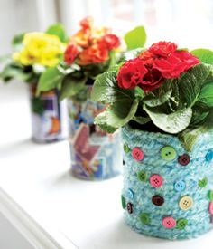 Make Beautiful Flower Pots From Old Cans