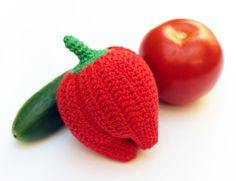 Items similar to Crochet Toy - Crochet Red Peper - Cotton - for baby / girl / boy / kids - gift on Etsy Unique Crochet, Kids Hands, Mild Soap, Crochet Toys, Kids Boys, Girl Birthday, Little Ones, Gifts For Kids, Baby Shower Gifts