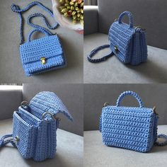 Crochet backpack pattern inspiration / crochet bag from t-shir yarn – Salvabrani -, - Bamboo Bags Crochet Backpack Pattern, Free Crochet Bag, Crochet Chain, Crochet Handbags, Crochet Purses, Crochet Designs, Crochet Patterns, Mochila Crochet, Crochet Bag Tutorials