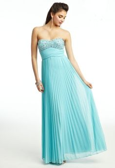 Chiffon Pleated Prom Dress from Camille La Vie and Group USA