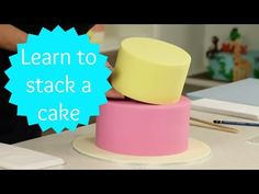 We share with you how to corrected stack a two tier cake. Perfect for birthday and wedding cakes. Template for doweling can be found here - http://cakestyle....