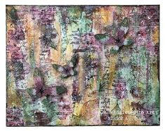 Textured Canvas with PaperArtsy Fresco Paint, Seth Apter Izink Ice, Tim Holtz Transparent wings My Canvas, Large Canvas, Dry Brush Painting, Some Text, Dry Brushing, Gold Paint, Art Blog, Fresco, Altered Art
