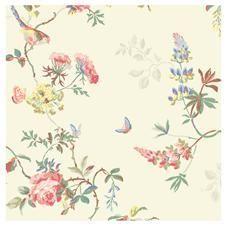 Birds & Roses Wallpaper #shabbychic