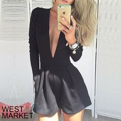 -COMING SOON-  Deep V Neck Romper Tailored v-neck romper. PLEASE COMMENT TO BUY THIS LISTING, I will make a separate listing for you. Pants Jumpsuits & Rompers