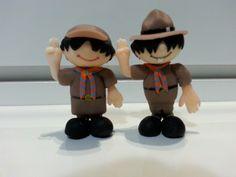 Personagens - Escoteiros Alertino e Alertina