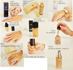 GLAMOUR TOP 9 FOUNDATIONS 2014