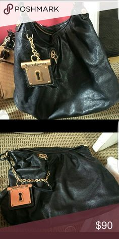Juicy Couture Leather Bag This is a nice bag in great condition with gold hardware. Trade value higher. Juicy Couture Bags Shoulder Bags