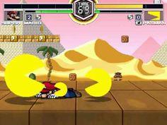 MUGEN無限格鬥 Mario VS Pacman x3 超級瑪利歐大戰小精靈三隻 マリオ @ パックマン*3