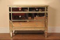 Canonbury - Mirrored Chests and Bedside Cabinets - Mirrored Furniture - Canonbury Antiques Mirrored Furniture, Art Deco Furniture, Mirrored Coffee Tables, Pedestal Desk, Art Deco Mirror, Bedside Cabinet, Light And Space, Mirror Cabinets, Chest Of Drawers