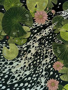 Mossy Gree, Soft Pink, & Black & White Print Frogfolio - Yuko Shimuzu