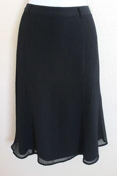Oscar De La Renta sz 10 Medium Black Skirt Swing Mod  | eBay
